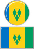 Saint Vincent and the Grenadines round, square Stock Photo