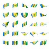 Saint Vincent and The Grenadines sjunker royaltyfri illustrationer