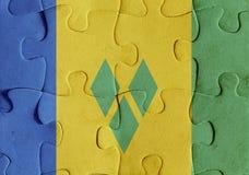 Saint Vincent och Grenadinerna flaggapussel vektor illustrationer