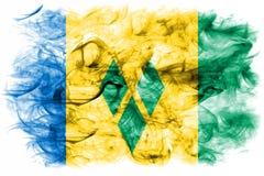 Saint Vincent och Grenadinerna rökflagga royaltyfri illustrationer