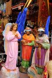 Saint and virgin  figurines in mexican market Stock Photography