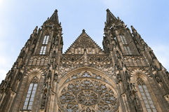 Saint Vit cathedral in Prague Stock Photos