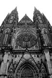 Saint Vitus Cathedral. View of Saint Vitus' Cathedral in Prague stock photos