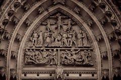 Saint Vitus Cathedral. View of Saint Vitus' Cathedral in Prague Royalty Free Stock Photo
