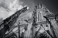 Saint Vitus' Cathedral. (Czech: Katedrála svatého Víta) is as a Roman Catholic cathedral in Prague, and the seat of the Archbishop of Prague. The full name Royalty Free Stock Photos