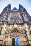 Saint Vitus cathedral close up Stock Photo