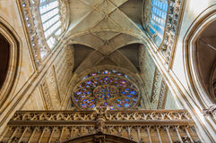 Saint Vitus Cathedral interior Royalty Free Stock Photography