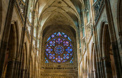 Saint Vitus Cathedral interior Stock Photo