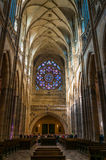 Saint Vitus Cathedral interior Stock Images