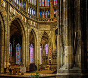Saint Vitus Cathedral Interiors Stock Photography