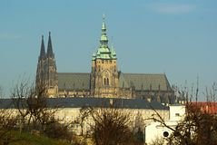 Saint Vitus' Cathedral in Prague Stock Photo