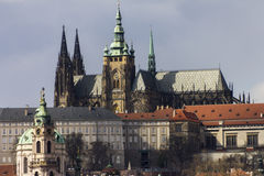 Saint Vitus cathedral and the Prague castle complex in Prague Royalty Free Stock Image