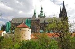 Saint Vitus cathedral and Prague castle Stock Photo