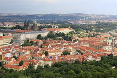 Saint Vitus Cathedral and Prague Castle. View from Petrin Lookou Royalty Free Stock Images