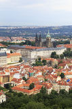 Saint Vitus Cathedral and Prague Castle. View from Petrin Lookout Tower Stock Photo