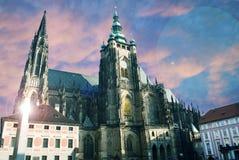 Saint Vitus cathedral, Prague stock photography