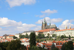 Saint Vitus Cathedral is situated neat the Prague Castle in the Royalty Free Stock Images