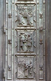 Saint Vitus cathedrale door decoration fragment. Prague,  Czech Republic Stock Photo