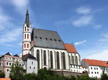 Saint Vitus church in Cesky Krumlov Royalty Free Stock Photos