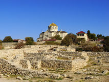 Saint Vladimir Cathedral in Chersonesos Taurica, Sevastopol, Cri Stock Photography