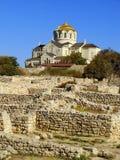 Saint Vladimir Cathedral in Chersonesos Taurica, Sevastopol, Cri Royalty Free Stock Images