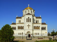 Saint Vladimir Cathedral in Chersonesus Taurica, Sevastopol, Cri Royalty Free Stock Images