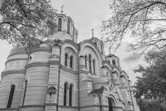 Saint Vladimir's Cathedral in BW Stock Photos