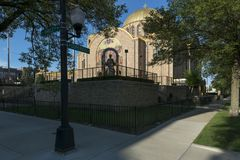 Saint Volodymyr et église catholique ukrainienne d'Olha de saint dans chic Images libres de droits
