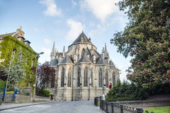 Saint Waltrude church in Mons, Belgium. Royalty Free Stock Images