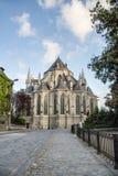 Saint Waltrude church in Mons, Belgium. Stock Image