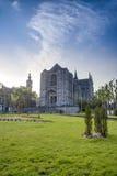 Saint Waltrude church in Mons, Belgium. Stock Photos