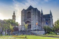 Saint Waltrude church in Mons, Belgium. royalty free stock photo
