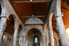Saint Wandrille Rancon, France - june 22 2016 : Saint Michel chu Stock Image