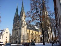 Saint Wenceslas Cathedral. In Olomouc, Czech Republic stock photography