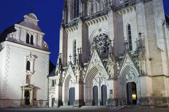 Saint Wenceslas Cathedral in Olomouc in the Czech Republic Stock Image