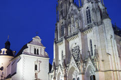 Saint Wenceslas Cathedral in Olomouc in the Czech Republic Royalty Free Stock Photo