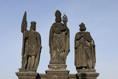 Saint Wenceslas, Saint Norbert and Saint Sigismund Stock Photo