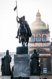 Saint Wenceslas statue Royalty Free Stock Photo