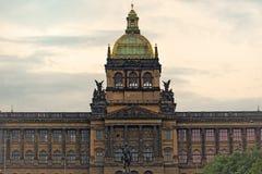 Saint Wenceslas Statue and Prague National Museum Royalty Free Stock Image
