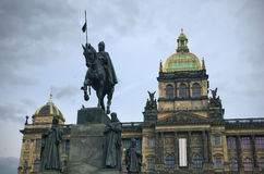 Saint Wenceslas statue Stock Images