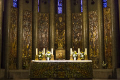 Sainte奥迪勒教会,巴黎,法国 库存照片