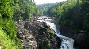 Sainte安妮在峡谷Sainte安妮(魁北克,加拿大)系列(8跌倒23) 库存图片