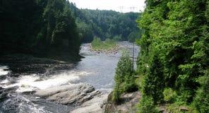 Sainte安妮在峡谷Sainte安妮(魁北克,加拿大)系列(18跌倒23) 免版税库存图片