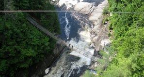 Sainte安妮在峡谷Sainte安妮(魁北克,加拿大)系列(5跌倒23) 库存照片