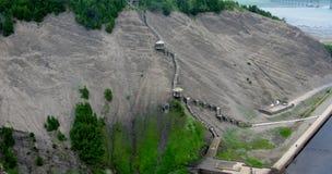 Sainte安妮在峡谷Sainte安妮(魁北克,加拿大)系列(4跌倒23) 免版税库存照片
