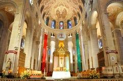 Sainte安妮deBeaupre,魁北克大教堂  库存图片