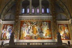 Sainte特雷瑟大教堂,利雪,法国 库存照片