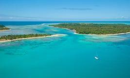 Sainte玛里海岛,马达加斯加鸟瞰图  免版税库存照片