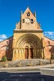 Sainte福伊Fascade教会在Morlaas -法国 免版税图库摄影