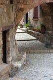 Sainte agnes scenery. Scenery of sainte agnes with cobblestone streets Royalty Free Stock Photo